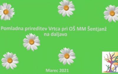Pomladna prireditev vrtca pri OŠ Milana Majcna Šentjanž
